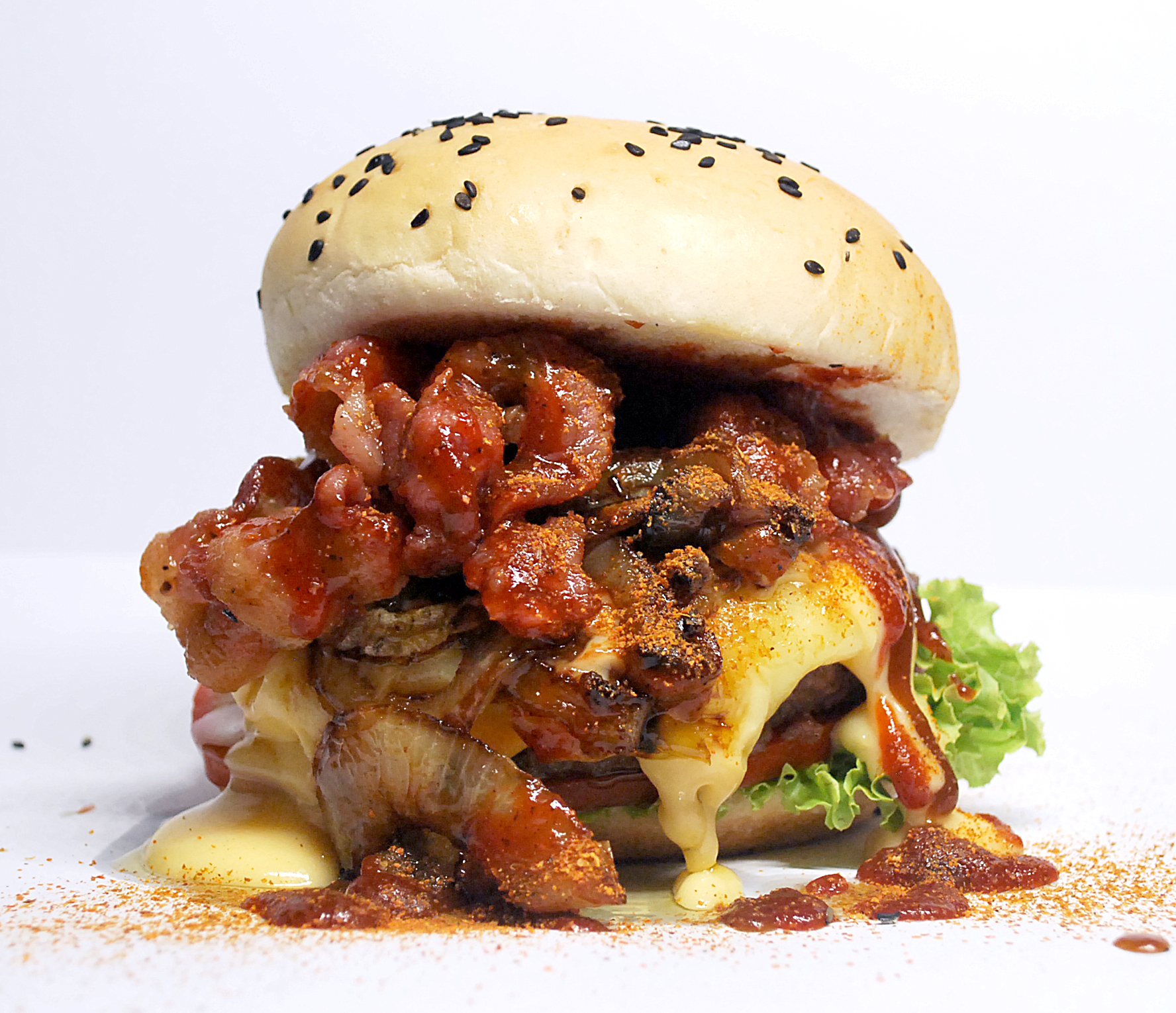 BB Spicy Barbecue Bacon Burger